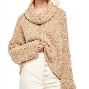 "FREE PEOPLE ""BFF"" SWEATER in TAN"